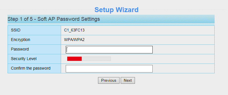 Soft AP Password Settings