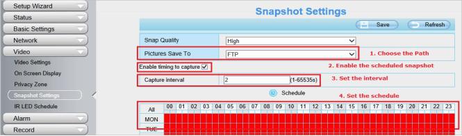 آموزش مراحل بارگذاری تصاویر ضبط شده بر روی FTP Server یا SD Card