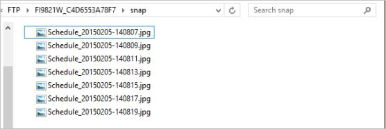 مراحل بارگذاری تصاویر ضبط شده دوربین مداربسته بر روی FTP Server یا SD Card