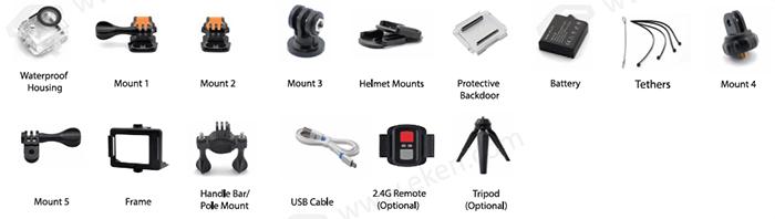 لوازم جانبی دوربین های فیلمبرداری ورزشی H9R