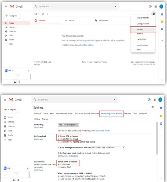 فعال سازی ارسال ایمیل Email or Gmail برای بسته امنیتی