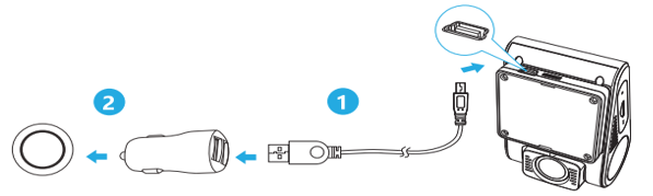 اتصال کابل به دوربین فیلمبرداری خودرو وایفو مدل A129dou-G IR و A129DG
