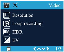 منوی ویدیو دوربین خودرو مدل A118C2 و A118C2-G