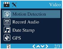 منوی ویدیو دوربین فیلمبردای خودرو مدل A118C2 و A118C2-G
