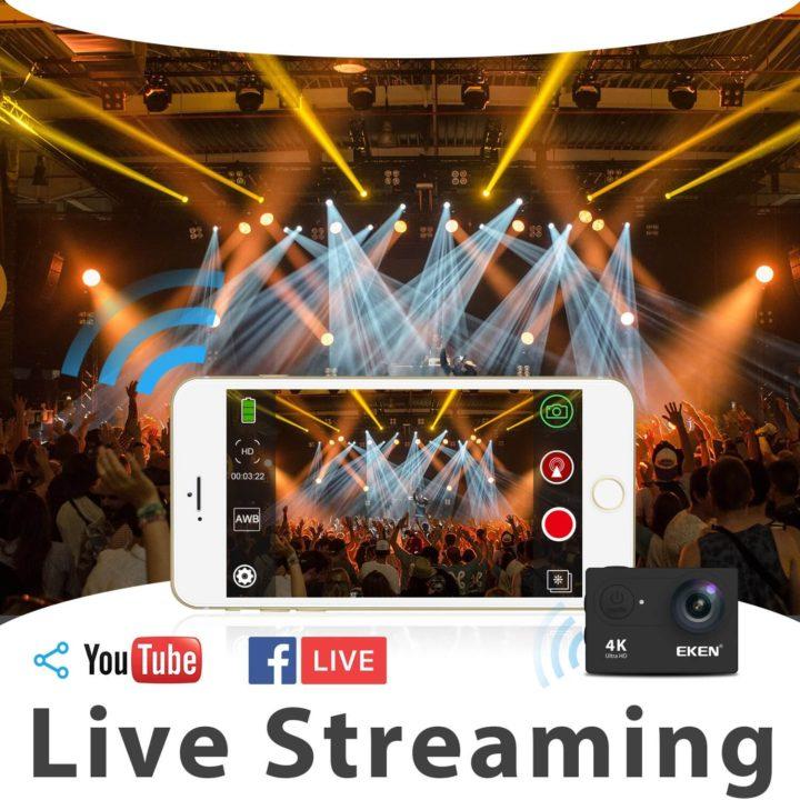 دوربین ورزشی eken | دوربین فیلمبرداری اکن مدل H9R V2 | لیست قیمت دوربین فیلمبرداری ورزشی eken مدل H9R V2 به همراه لوازم جانبی