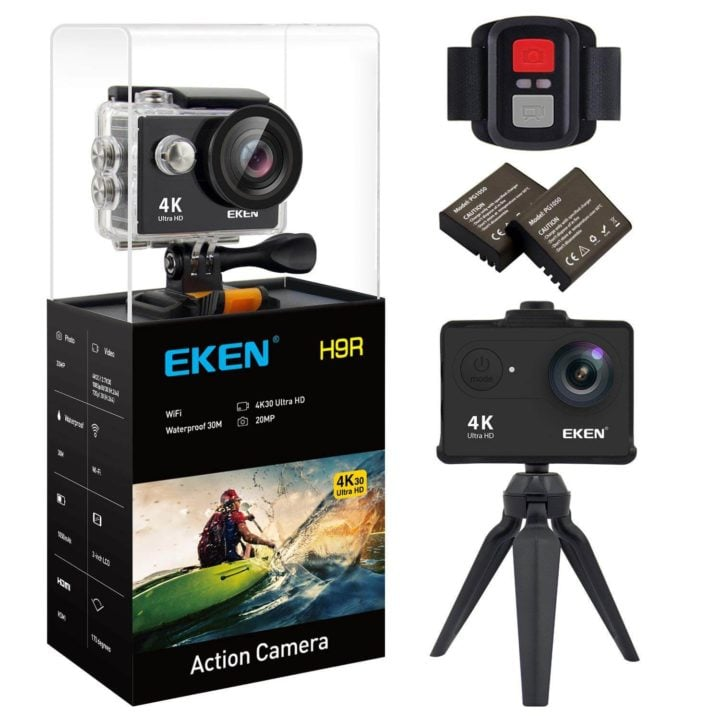 eken H9R V2 | دوربین فیلمبرداری ورزشی اکن مدل H9R V2 به همراه لوازم جانبی