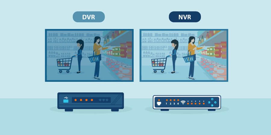 نحوه پردازش دادههای ویدئویی NVR وDVR|دوردید تک